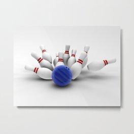 Bowling Metal Print
