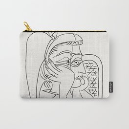 Vintage poster-Pablo Picasso-Linear drawings-Caricature. Carry-All Pouch