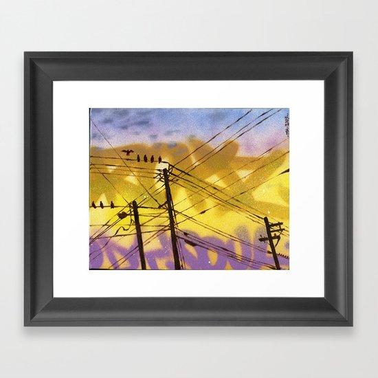 High Wire Act Framed Art Print