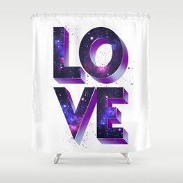 Love space Shower Curtain