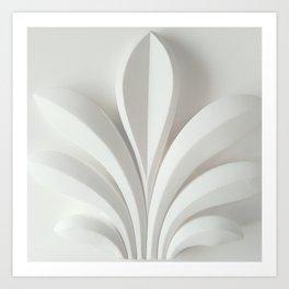 White sculpture Art Print