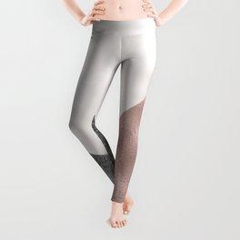 Rose grunge - geo layers Leggings