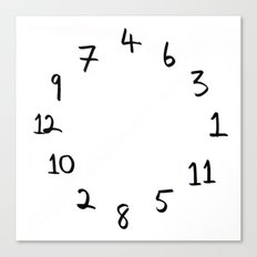 terrible clock Canvas Print