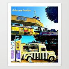 London Ice Truck  Art Print