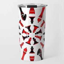 Red/Black Chessmen Travel Mug