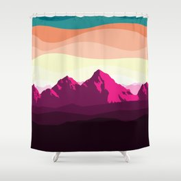 Alaska Sunrise Shower Curtain