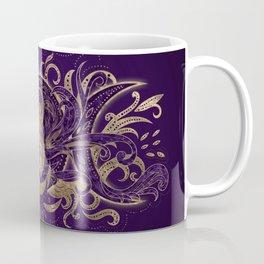 Triple Moon - Triple Goddess Purple and Gold Coffee Mug