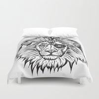 leon Duvet Covers featuring Leon The Lion by Thompson ET Julienne