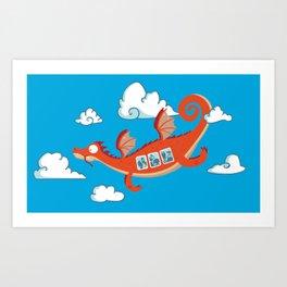 Dragonia Air Art Print