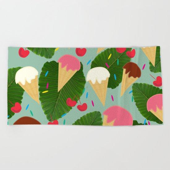 Tropical Ice Cream Beach Towel
