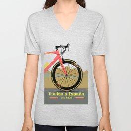 Vuelta a Espana Bike Unisex V-Neck