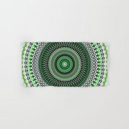 Bright Green Mandala Design Hand & Bath Towel