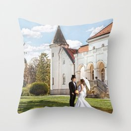 Love in castle Throw Pillow