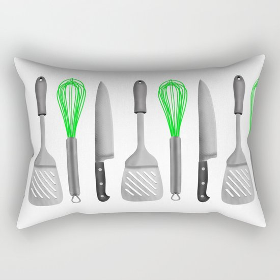 Kitchen Utensils Rectangular Pillow