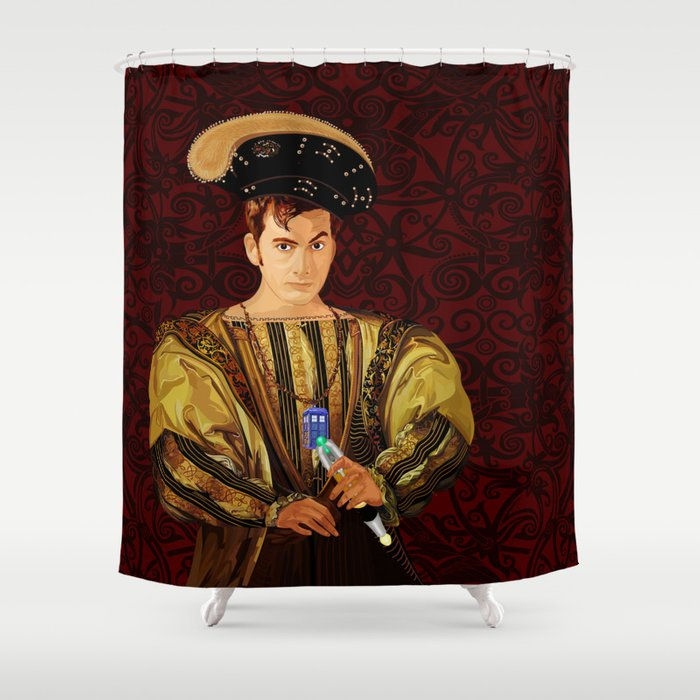 10th Doctor who long long time ago parody Shower Curtain