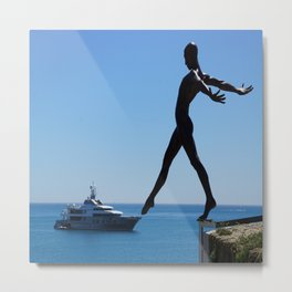 Touch The Yacht Metal Print