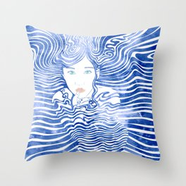 Water Nymph XLIII Throw Pillow