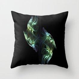 Birds Fractal Throw Pillow