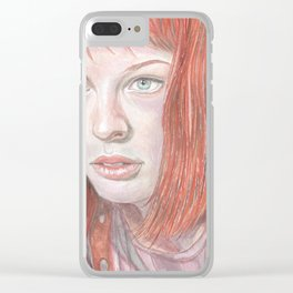 Leeloo - the Fifth Element Clear iPhone Case