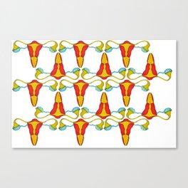 Iron uterus Canvas Print