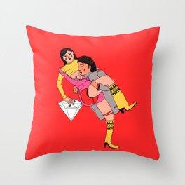eroti print Throw Pillow