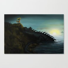 The Girl and the Dragon Canvas Print