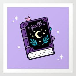 Magical Spellbook Art Print