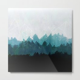 Woods Abstract  Metal Print