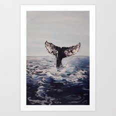 Whale of a Journey Art Print