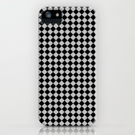 Black and Gray Diamonds iPhone Case