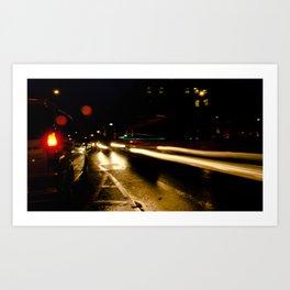 Street Light IV - Leeson Street & Adelaide Road Art Print