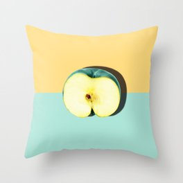 Tropical Fruit. Apple Half Slice Throw Pillow