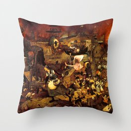 Mad Meg by Heironymus Bosch Throw Pillow