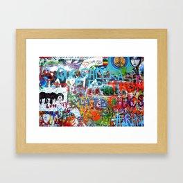 grafitti wall Framed Art Print