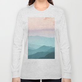 Smoky Mountain National Park Sunset Layers II - Nature Photography Long Sleeve T-shirt