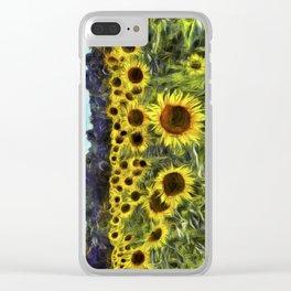 Sunflowers Van Goth Clear iPhone Case