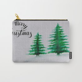 Merry Christmas Simple Trees Carry-All Pouch