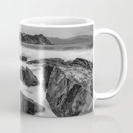 Rocky Ocean Black And White Coffee Mug