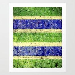 Green Blue Blast Art Print