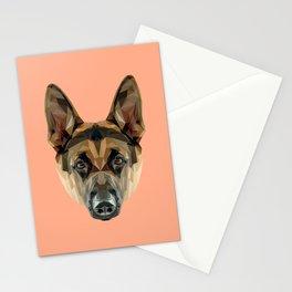 German Shepherd // Peach Stationery Cards