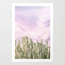 Unicorn Sky Cactus Art Print