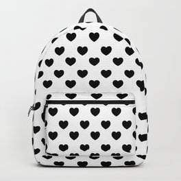 black and white seamless hearts Backpack