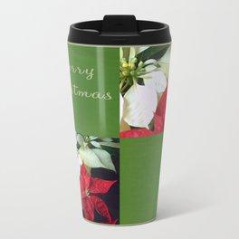 Mixed Color Poinsettias 2 Merry Christmas Q5F1 Travel Mug