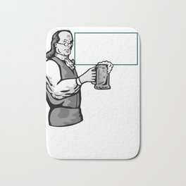 Philly Dilly Ben franklin Cheers a Beer Bath Mat