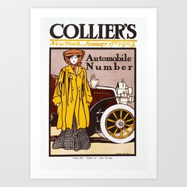 Collier's Automobile Number 1903 Art Print