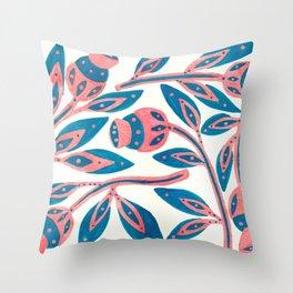 Nordic Fairytale Ornament Throw Pillow