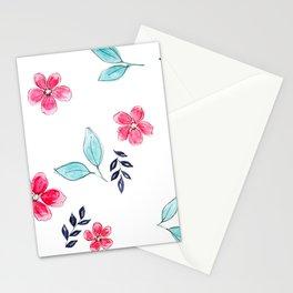 Meraki Simple Botanical Pink Stationery Cards