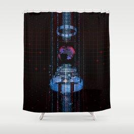 Virtual Data Earth Shower Curtain
