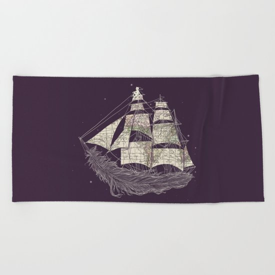 Wherever the wind blows Beach Towel