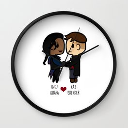 Inej x Kaz - Six of Crows / Crooked Kingdom Wall Clock